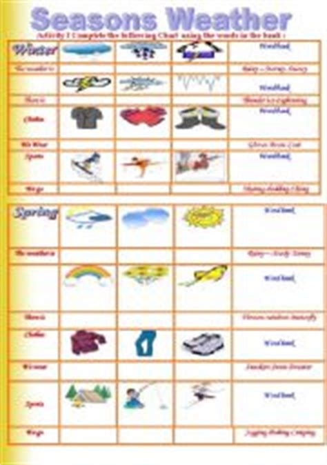 clothes for different seasons worksheet english worksheets the weather worksheets page 26