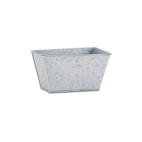 Rectangular Galvanized Planter by Galvanized Tin Rectangular Planter Confetti Co Uk