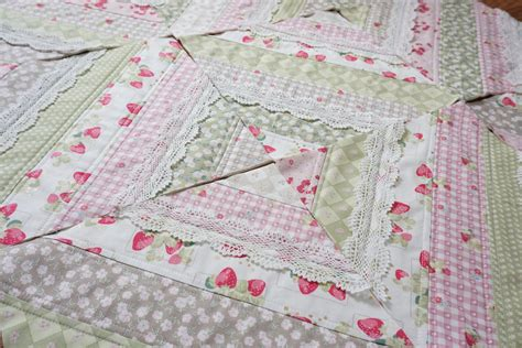 You Quilting by Quilt As You Go Made Modern Quilt With Lace