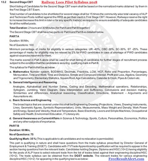 paper pattern rrb rrb alp syllabus 2018 pdf in hindi railway loco pilot exam