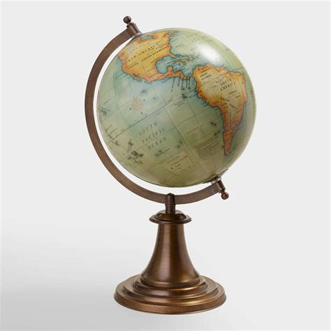 Home Decorative Stores by Antique Green Globe With Brass Stand World Market