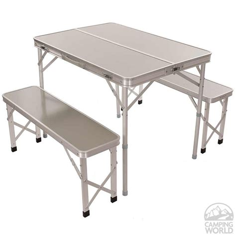 portable picnic bench portable picnic table with benches direcsource ltd