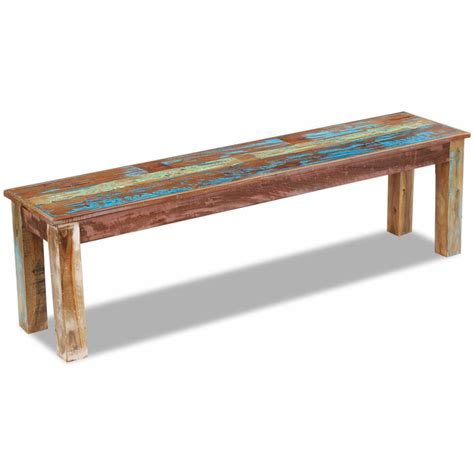 recycled wood bench vidaxl co uk vidaxl bench solid reclaimed wood 160x35x46 cm
