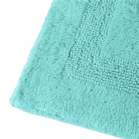 Aqua Bathroom Rugs Olympia 100 Cotton Textured Washable Bath Mat 50cm X 80cm White Black Beige Or Aqua