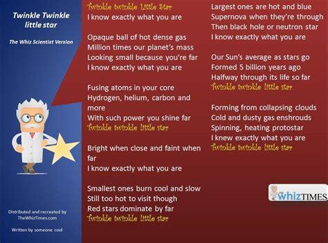 full version twinkle twinkle little star twinkle twinkle little star whiz scientist style