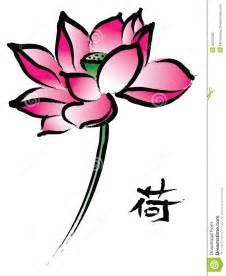 Lotus Chines Lotus In Painting Style Stock Photography