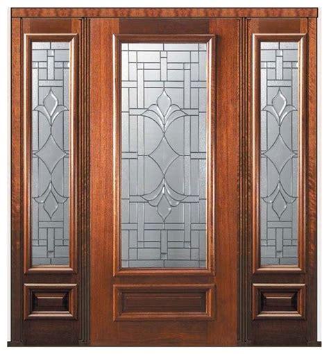 Pre Hung Side Lights Door 80 Wood Mahogany Marsala 3 4 Pre Hung Front Doors