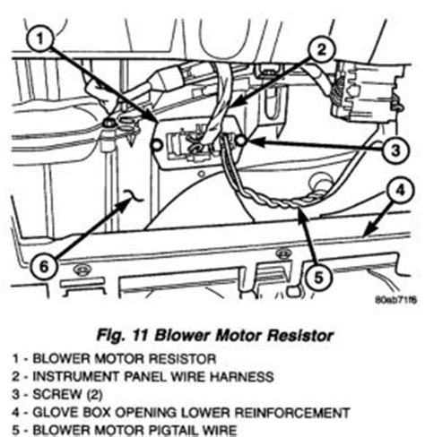 resistor box location plymouth voyager blower motor resistor location plymouth
