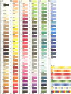 thread colors embroidery thread color charts embroidery designs