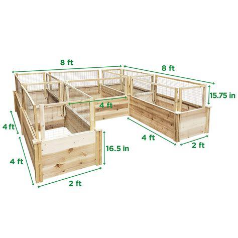 greenes fence premium cedar raised garden bed  ft