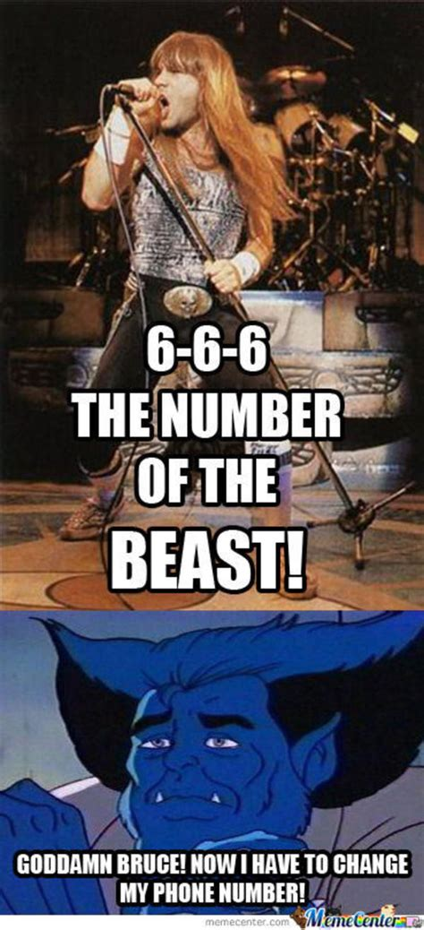 Iron Maiden Memes - the number of the beast heavy metal know your meme