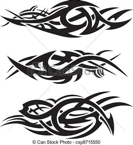 set of abstract tribal flames vector clipart search