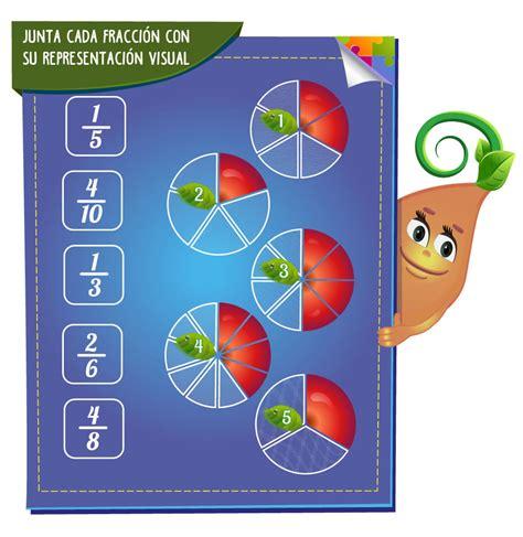 imagenes matematicas de fracciones juegos de fracciones para ni 209 os 174 operaciones y ejercicios