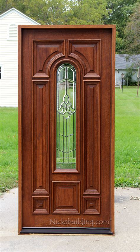 outside doors exterior single mahogany doors