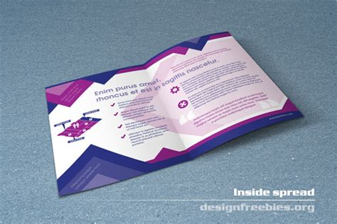 free indesign flyer templates free bifold booklet flyer brochure indesign template no 1 designfreebies