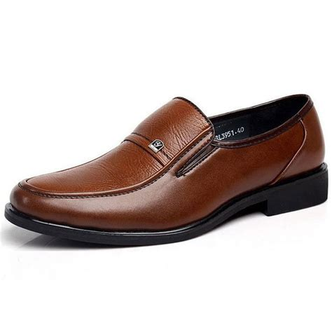 flat business shoes mens leather style brown flat formal business