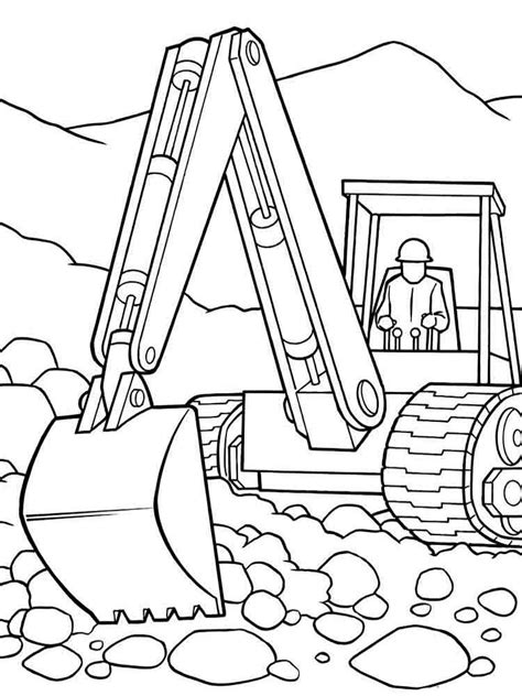 Construction Vehicles Coloring Pages Download And Print Vehicles Colouring Pages
