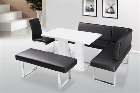 White High Gloss Dining Table Chairs With Bench Set High Gloss Dining Table Sets