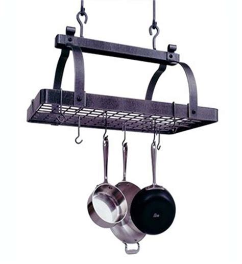 hanging pot classic rectangle hanging pot rack in hanging pot racks