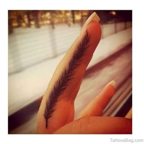 finger tattoo wings 28 subtle feather tattoos on finger