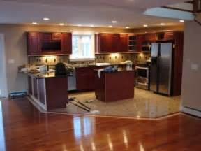 Kitchen Cabinets And Flooring kitchen cabinets and flooring combinations hardwood vs