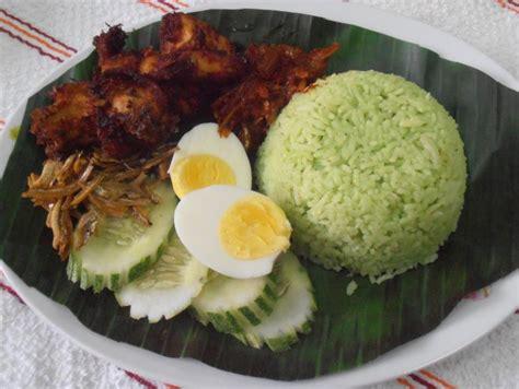 cara membuat nasi kuning sabah resipi nasi lemak hijau kukus sedap myresipi info jom
