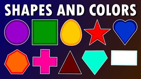 shapes and colors colors and shapes song for children animation