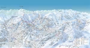 plan des pistes de ski les portes du mont blanc