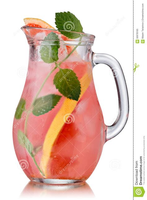 Infused Water Jug grapefruit mint detox jug stock image image of healthy