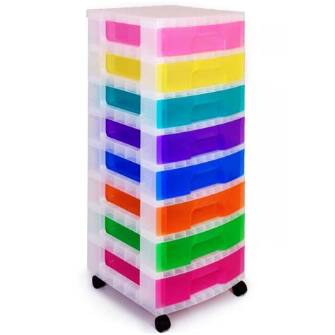 Really Useful Drawer Tower by Really Useful Rainbow Storage Tower 8 Drawers Hobbycraft