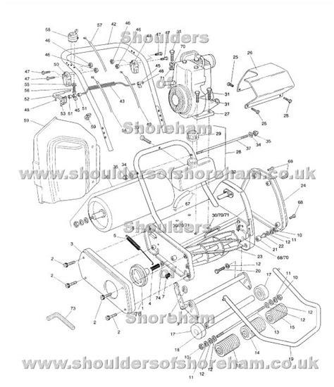 qualcast classic 35s parts diagram qualcast classic petrol 35s spares diagram serial number