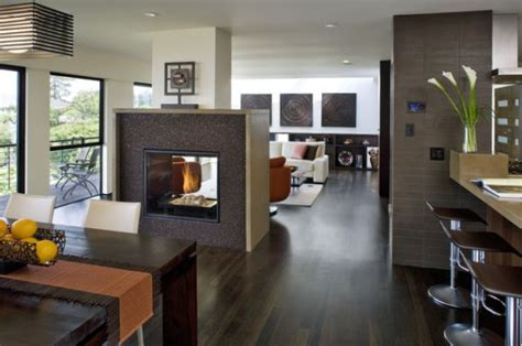Fireplace Between Dining Room And Living Room 21 Modern Fireplaces Characteristics And Interior D 233 Cor Ideas