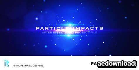 Particle Impacts After Effect Project Videohive Free After Effects Template Videohive Particle Titles After Effects Templates