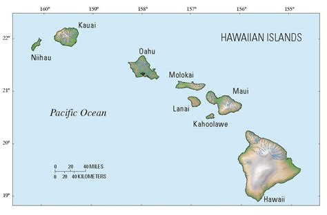 map of hawaii islands state of hawaii islands map