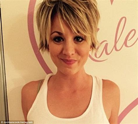 big bang blonde short hair cut pictures kaley cuoco dyes her blonde pixie hair pink in latest