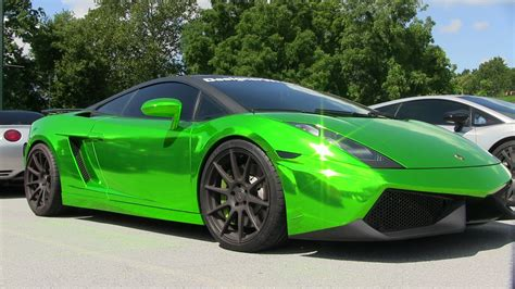 Lamborghini Gallardo Green Chrome Green Wrap On Lamborghini Gallardo
