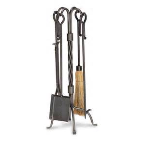 pilgrim 5 traditional vintage iron fireplace tool set
