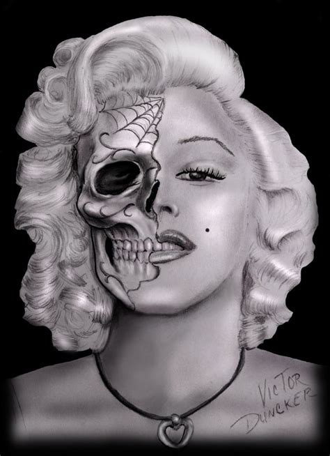 marilyn monroe day of the dead tattoo day of the dead marilyn by xarcwelderx on deviantart
