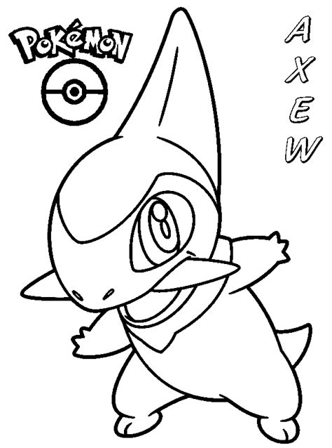 pokemon coloring pages axew coloring books pokemon axew to print and free download