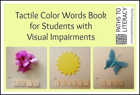 coloring books for visually impaired this tactile color words book helps students who are