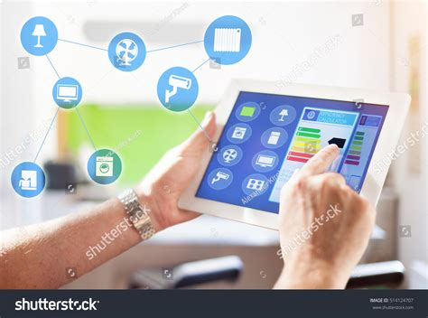 smart home intelligent house automation remote stock photo