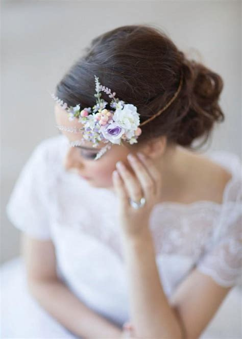 floral hair accessories for wedding lilac bridal hair accessories floral circlet 2226186