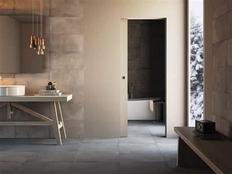 flush   wall sliding doors  bathroom
