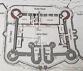 harlech castle floor plan harlech photo tour