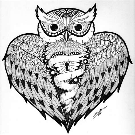 owl bird tattoo sketch on instagram