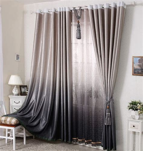 Grey Ombre Curtains 22 Curtain Designs Patterns Ideas For Modern And Classic Interiors