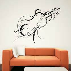 Art Wall Stickers decorative violin wall art decals wall stickers transfers