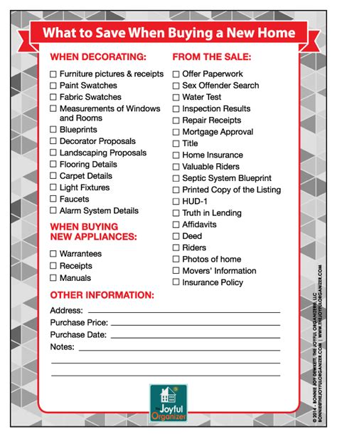 Home Buying Checklist Printable