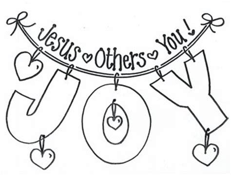 bible coloring pages joy joy jesus others you sunday school churches and bible
