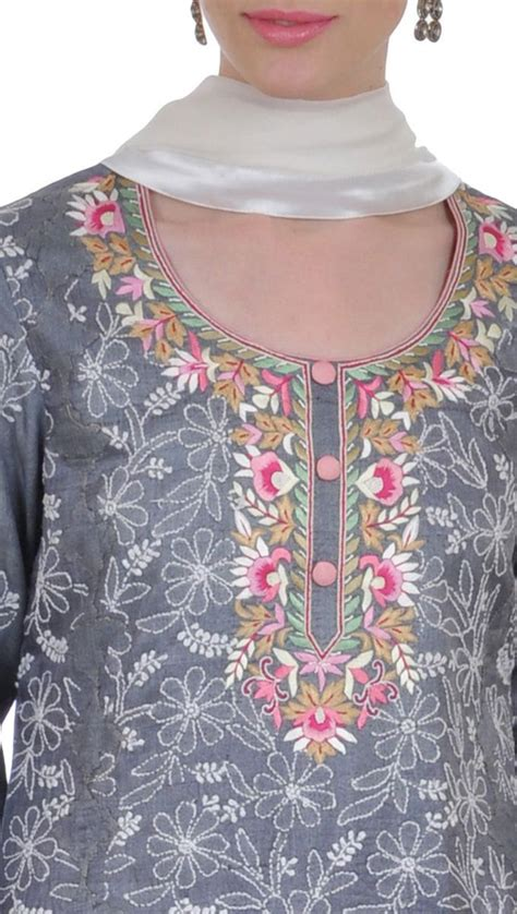 Mawar Tunic 234 best images about neck pattern on embroidery churidar suits and saree